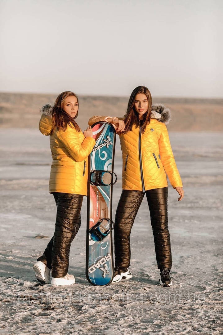 Теплий жіночий зимовий лижний костюм