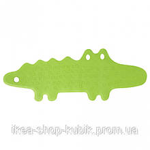Килимок у ванну, крокодил зелений, 33x90 см  IKEA ПАТРУЛЬ 101.381.63