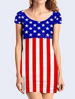 Сукня туніка 3D Американський прапор