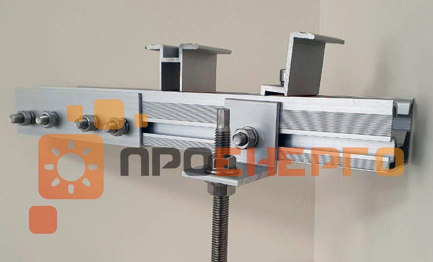 Системы креплений для солнечных фотомодулей на металлочерепицу профнастил и шифер