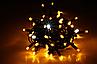 Новогодняя гирлянда нить Xmas 300 LED ламп желтого свечения (черный провод, 20 метров), фото 2