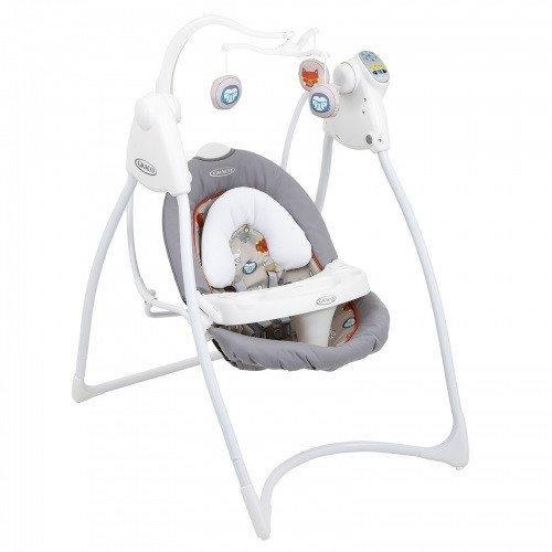 Б/у Кресло качалка Graco - музыкальный укачивающий центр для кормления с таймером и регулировкой скорости.