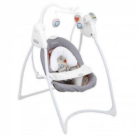 Б/у Кресло качалка Graco - музыкальный укачивающий центр для кормления с таймером и регулировкой скорости., фото 2