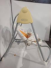 Б/у Кресло качалка Graco - музыкальный укачивающий центр для кормления с таймером и регулировкой скорости., фото 3