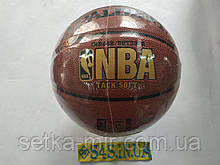 М'яч баскетбольний гумовий Spalding NBA ЧОРНЕ ЗОЛОТО, смуга ,розмір 7