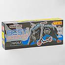 Самокат детский двухколесный складной Best Scooter Shark, колеса PU, амортизатор 86848, фото 6