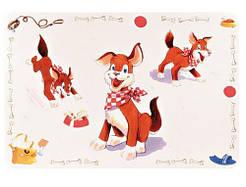 Trixie Коврик под миску «Собака» 56х38см