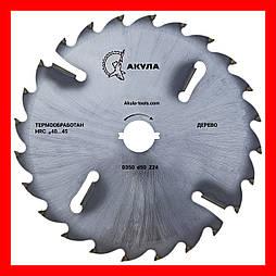 D350 d50 z24+4 диск АКУЛА з підрізними ножами по дереву