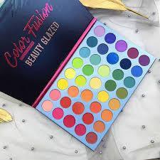 Палетка теней Beauty Glazed водостойкая для макияжа глаз, тени для век с блестками и пигментом, 35 цвета, фото 2