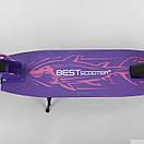 Самокат детский двухколесный складной Best Scooter Shark, колеса PU, амортизатор 86848, фото 3