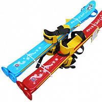 Лыжи с палками детские, из морозостойкого пластика, 2 цвета Технок 3350