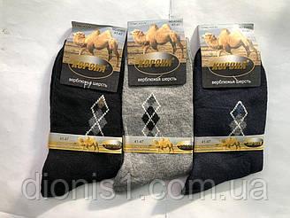 Шкарпетки чоловічі термо зима махрові верблюжа шерсть КОРОНА розмір 41-47 12 шт в уп.