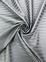 Сатин страйп 1/1 тёмно- серый 220 см, фото 1