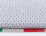 """Клапоть тканини """"Маленькі паралелепіпеди"""" сині на білому фоні (№3058а), розмір 40*80 см, фото 3"""