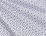 """Клапоть тканини """"Маленькі паралелепіпеди"""" сині на білому фоні (№3058а), розмір 40*80 см, фото 4"""
