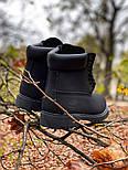 Зимние мужские ботинки теплые термо T1mberland classic 6 inch Black без меха. Живое фото. Премиум реплика, фото 3