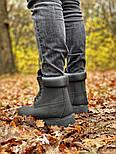 Зимние мужские ботинки теплые термо T1mberland classic 6 inch Black без меха. Живое фото. Премиум реплика, фото 6