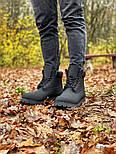 Зимние мужские ботинки теплые термо T1mberland classic 6 inch Black без меха. Живое фото. Премиум реплика, фото 10