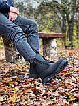 Зимние мужские ботинки теплые термо T1mberland classic 6 inch Black без меха. Живое фото. Премиум реплика, фото 5
