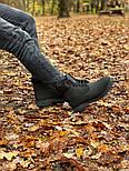 Зимние мужские ботинки теплые термо T1mberland classic 6 inch Black без меха. Живое фото. Премиум реплика, фото 8