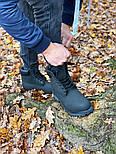 Зимние мужские ботинки теплые термо T1mberland classic 6 inch Black без меха. Живое фото. Премиум реплика, фото 4