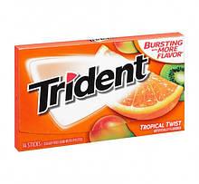 Жевательная резинка Trident Tropical Twist фруктовая 14 шт