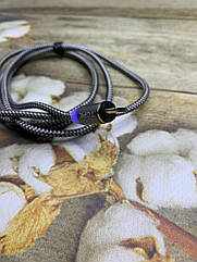 Магнитный USB кабель TOPK 1метр с LED подсветкой Micro-USB