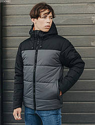 Зимняя куртка Staff basic black & gray