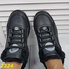Женские кроссовки буффало на меху, черные, р.36,39, фото 2