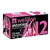 Иглы для инсулиновых шприц-ручек Веллион Медфайн Плюс 12мм 0,33 мм (29G)