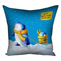 Подушка з принтом Зима це свято (3P_21NG105_UKR)