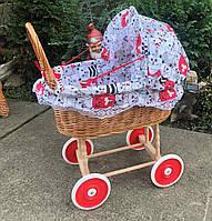 Дитяча коляска плетена для ляльки з лози