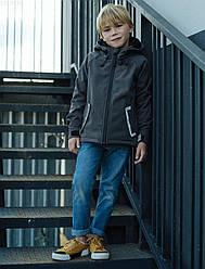 Детская куртка серая для мальчика Staff soft shell gray jump весна/осень - LBL0130