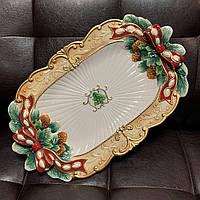 Блюдо Новогоднее керамическое 48 х 30 см 59-581