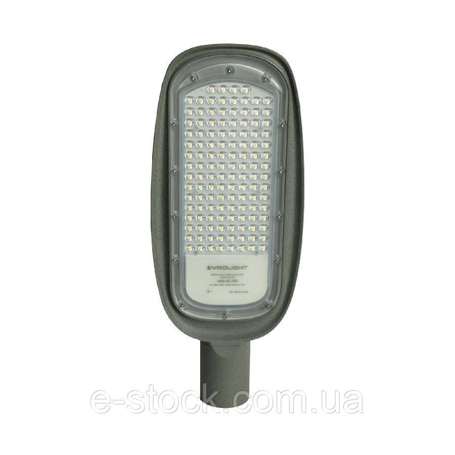 Светильник светодиодный консольный EVROLIGHT 100Вт 5000К MALAG-100 M 12000Лм IP65