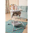 Стульчик для кормления белый с серым Tilly Buddy съемный чехол корзина для ребенка от 6 месяцев до 3-х лет, фото 2