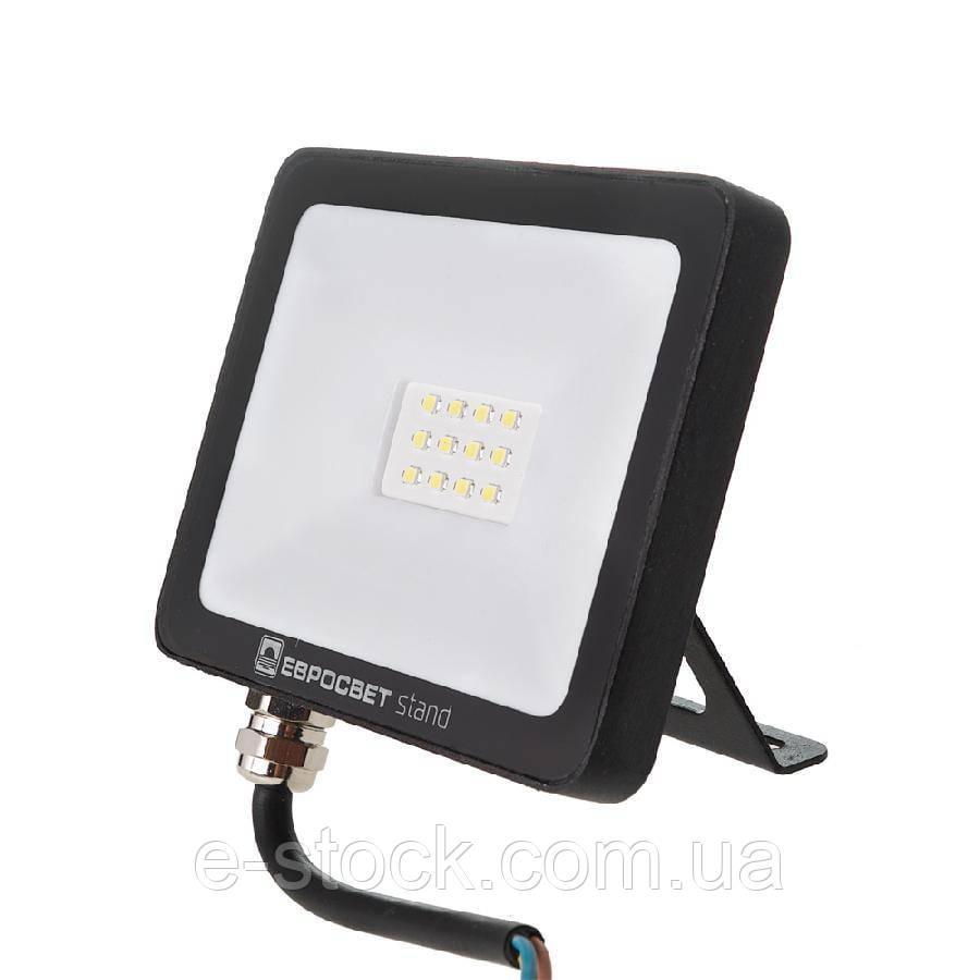 Прожектор светодиодный ЕВРОСВЕТ 10Вт 6400К EV-10-504 STAND-XL 800Лм