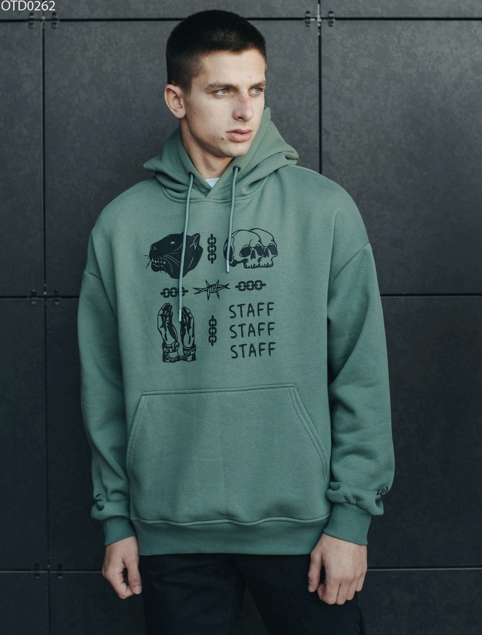 Толстовка Staff label haki fleece XXL