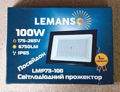 Светодиодный прожектор 100 ват IP65  LEMANSO    LMP73-100