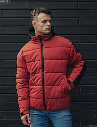 Зимняя куртка Staff lines red S