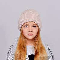 """Детская шапка """"Лола"""" светлая пудра"""