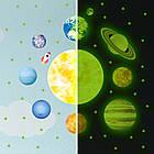 Светящиеся в темноте наклейки звезд и планет Парад планет Люмик, фото 7