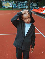 Детская толстовка Staff grafit zip