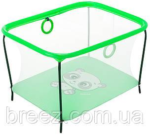 Манеж Qvatro LUX-02 мелкая сетка  зеленый (panda)