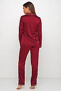 Женская брючная шелковая пижама, фото 2