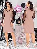 Стильное платье    (размеры 48-58) 0258-03, фото 2