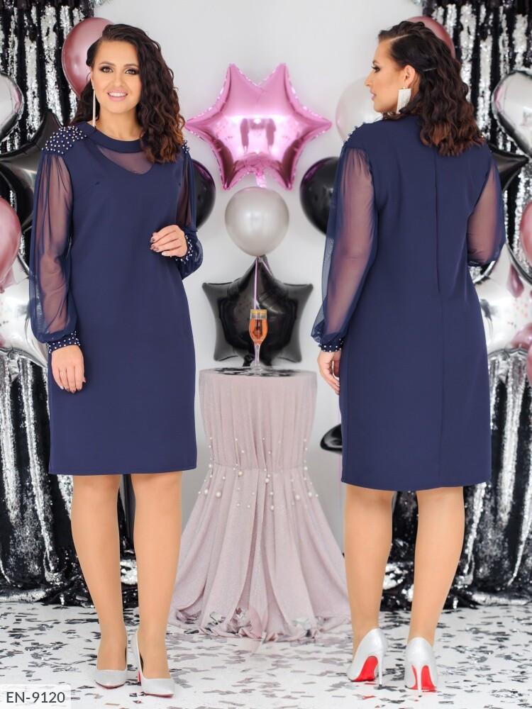 Стильное платье    (размеры 48-58) 0258-03