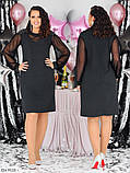 Стильное платье    (размеры 48-58) 0258-03, фото 3