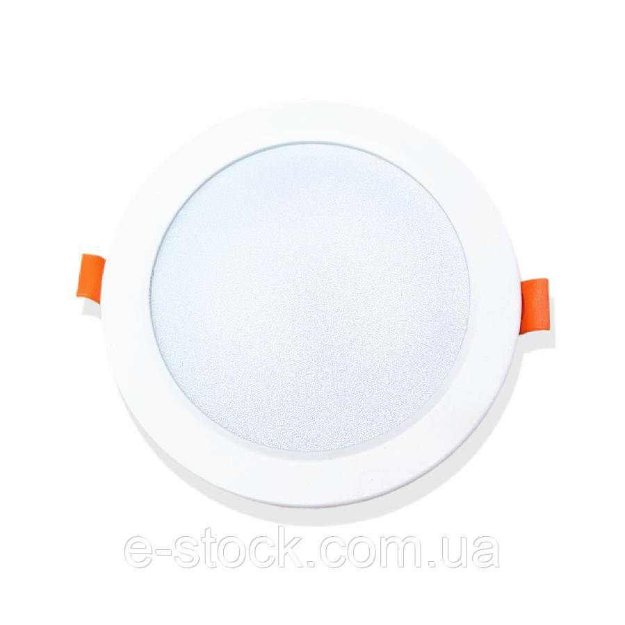Светильник точечный врезной EVROLIGHT 12Вт круг PLAIN-12R 6400К