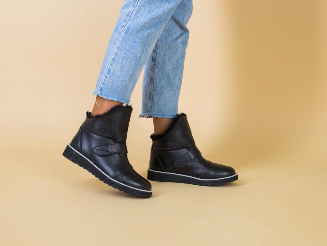 Угги кожаные черные женские 38 размер